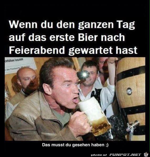das erste bier