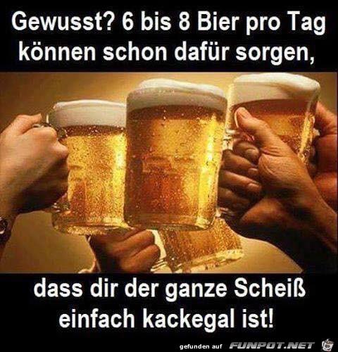 Bier hilft