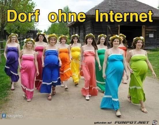 Dorf ohne Internet