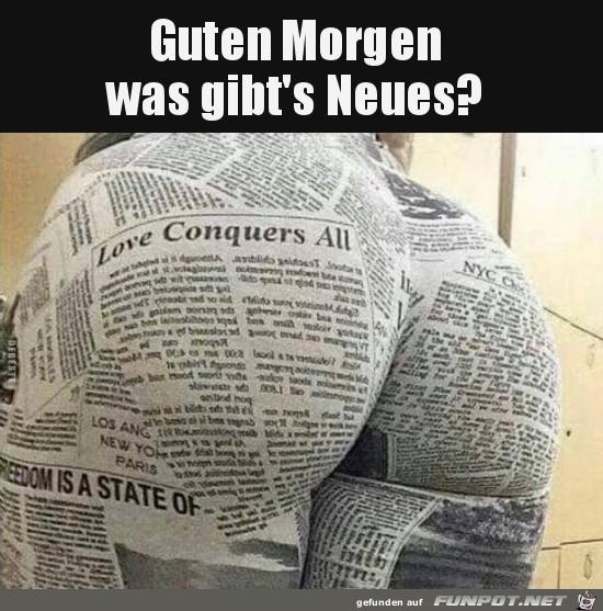erst mal die Zeitung lesen
