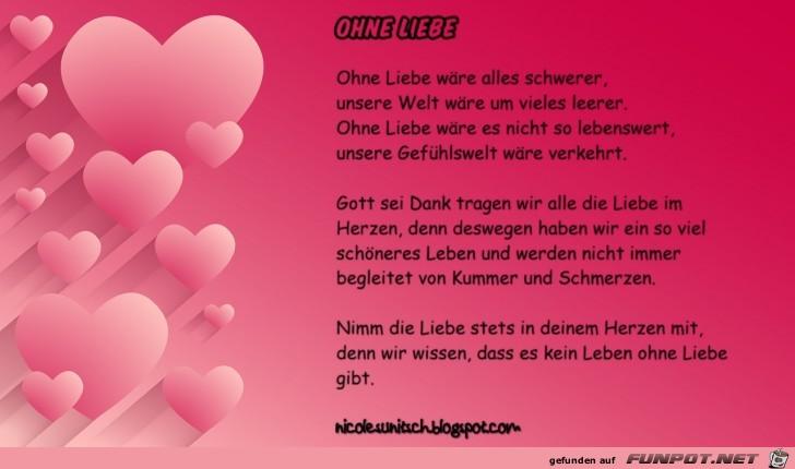 Gedichte - Ohne Liebe