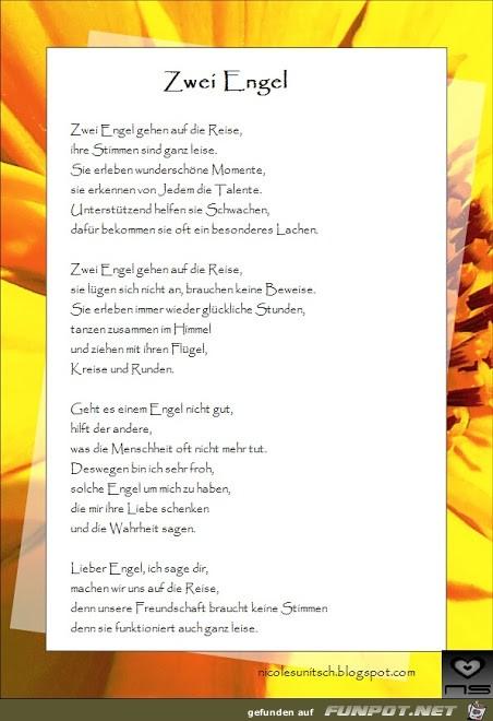 Gedicht - Zwei Engel Rahmen