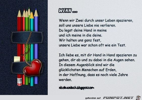 Gedicht - Wenn - Liebe