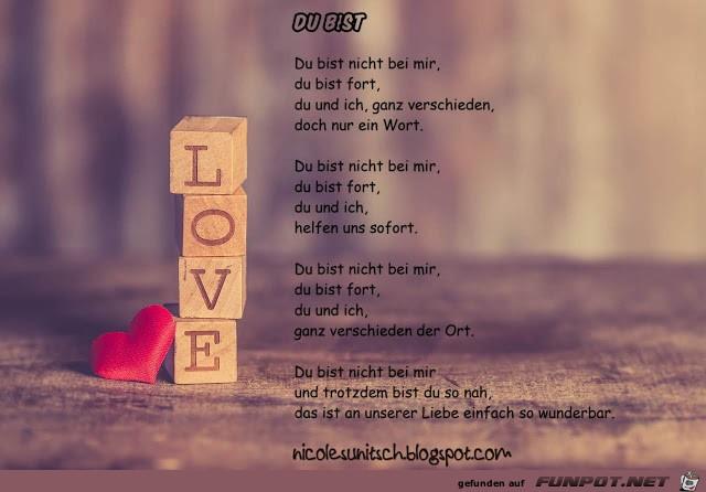 Gedicht - Du bist - Liebe