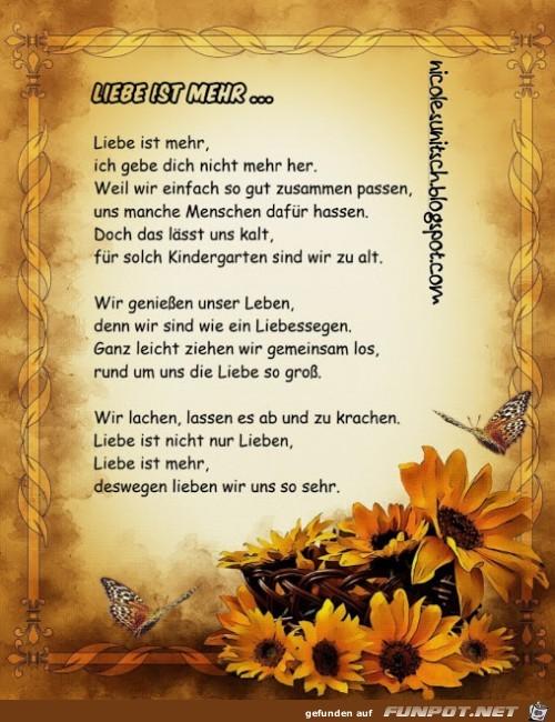 Gedicht - Liebe ist mehr