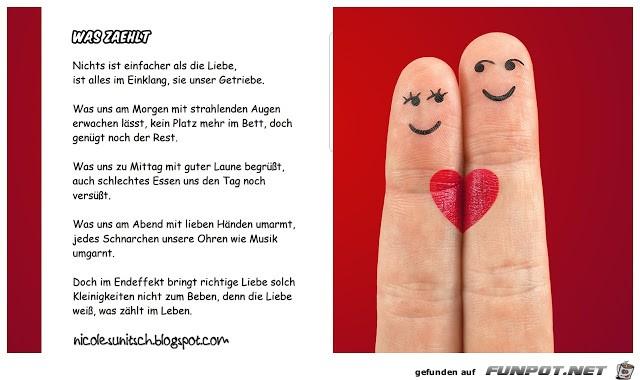Liebesgedicht - Was zählt