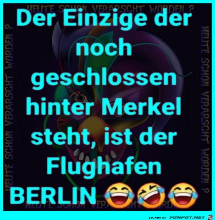 Hinter Merkel