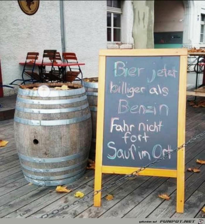 Bier billiger als Benzin