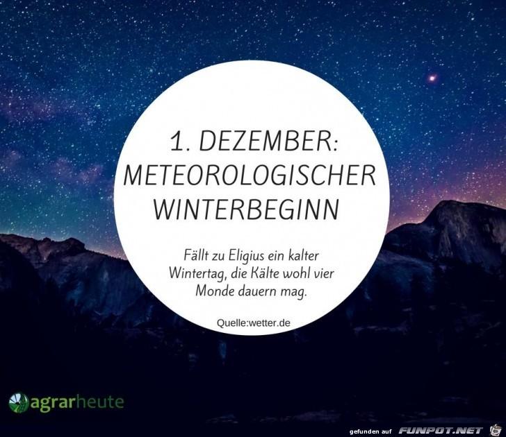 Meteorologischer Winterbeginn