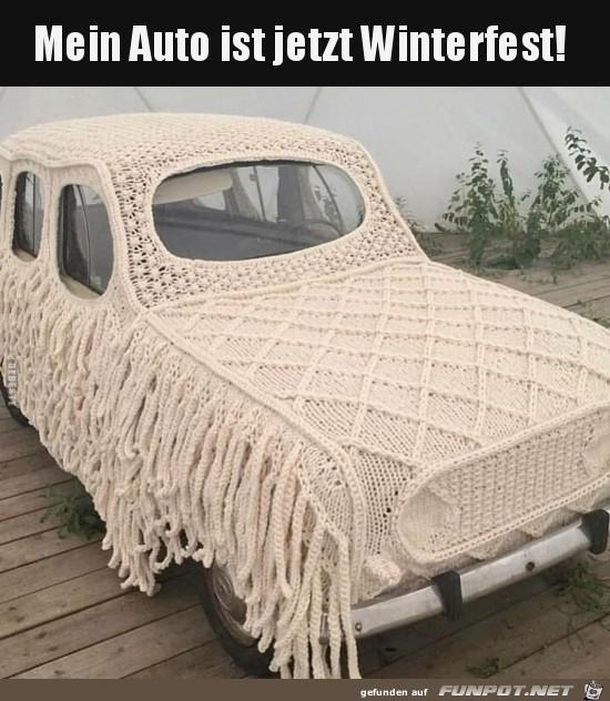 Auto ist winterfest.....