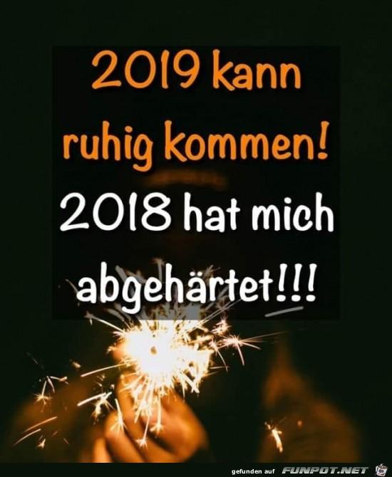 2019 kann kommen.....