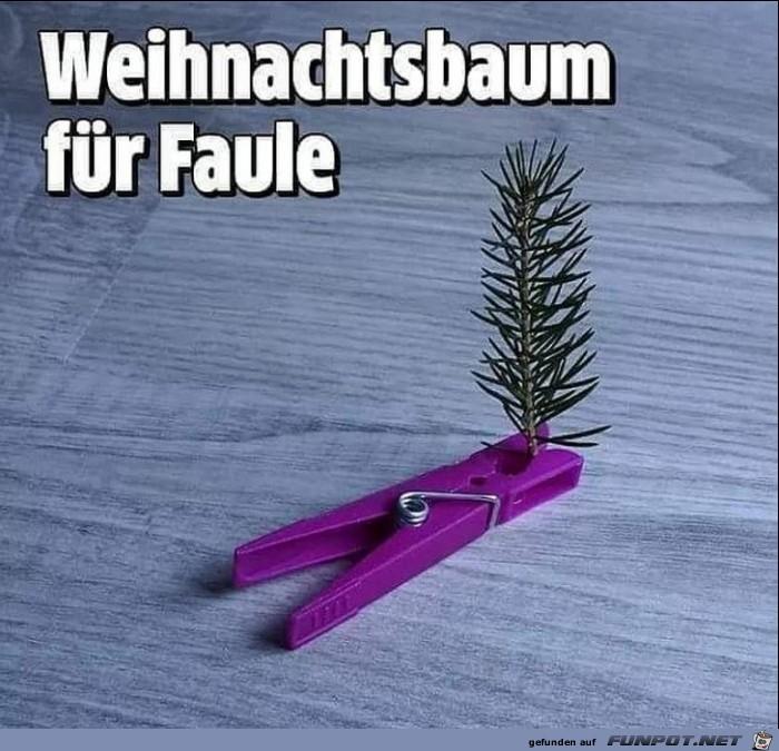 Weihnachtsbaum für Faule und Singles