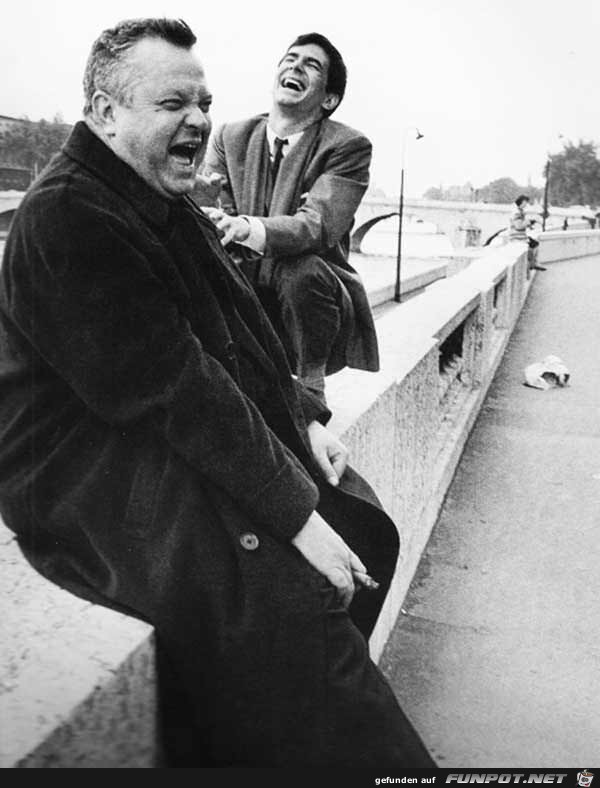 Orson Welles und Anthony Perkins