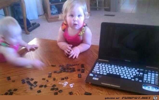 Defekter Laptop