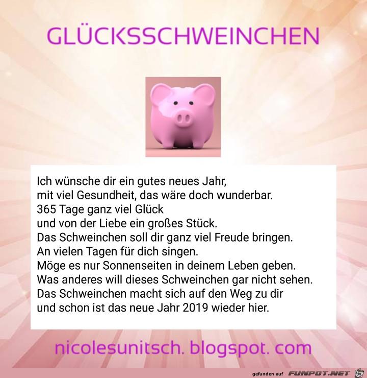 2019 Glücksschwein - Gedicht