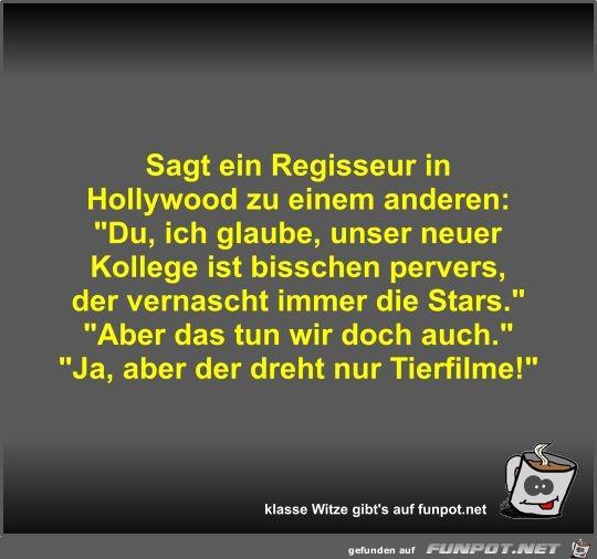 Sagt ein Regisseur in Hollywood zu einem anderen