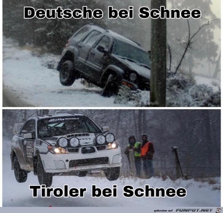 Deutsche bei Schnee...