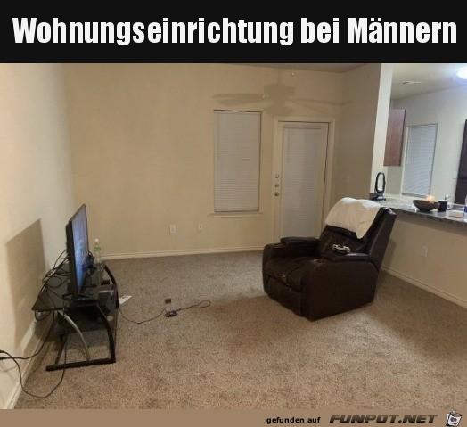 Männer-Wohnung