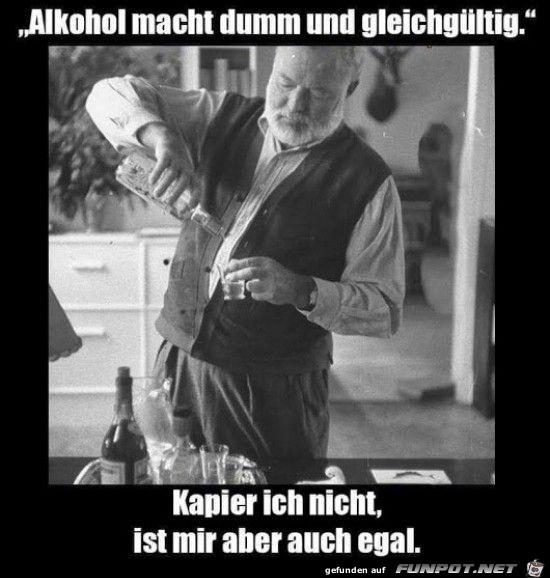 Alkohol macht dumm
