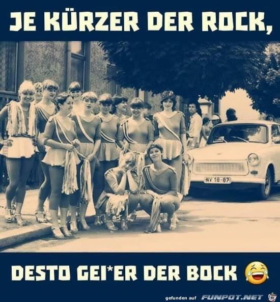 je kürzer der Rock......