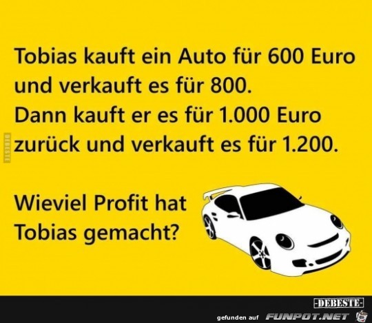 Tobias kauft ein Auto...