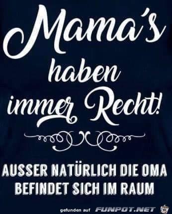mamas haben immer recht
