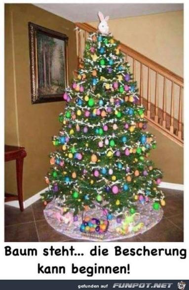Baum ist fertig
