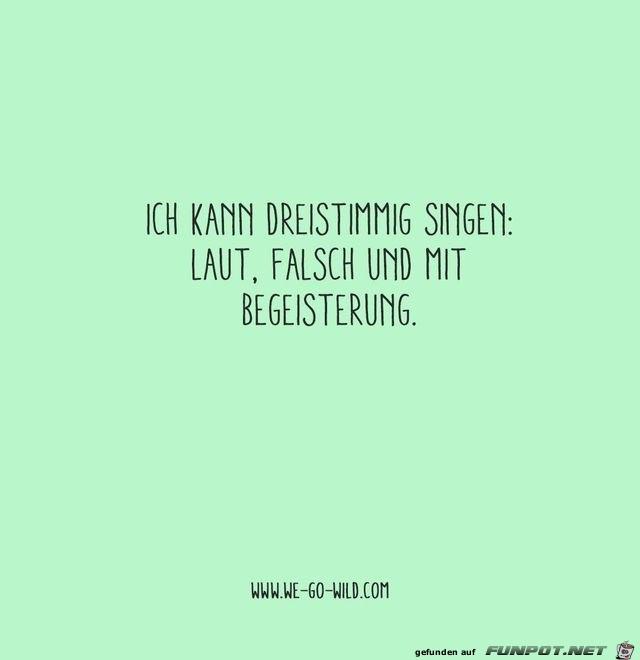 ich kann dreistimmig singen