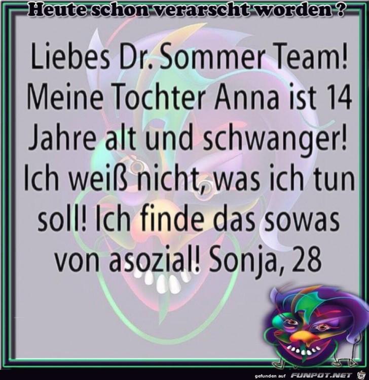Liebes Dr. Sommer Team!