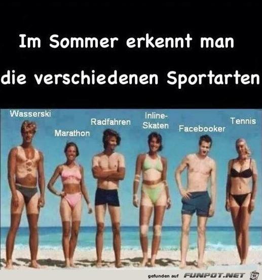 Sommer-Sportarten
