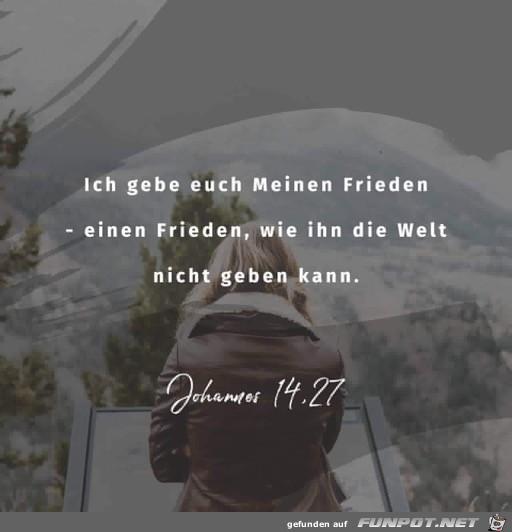 Johannes 14 27