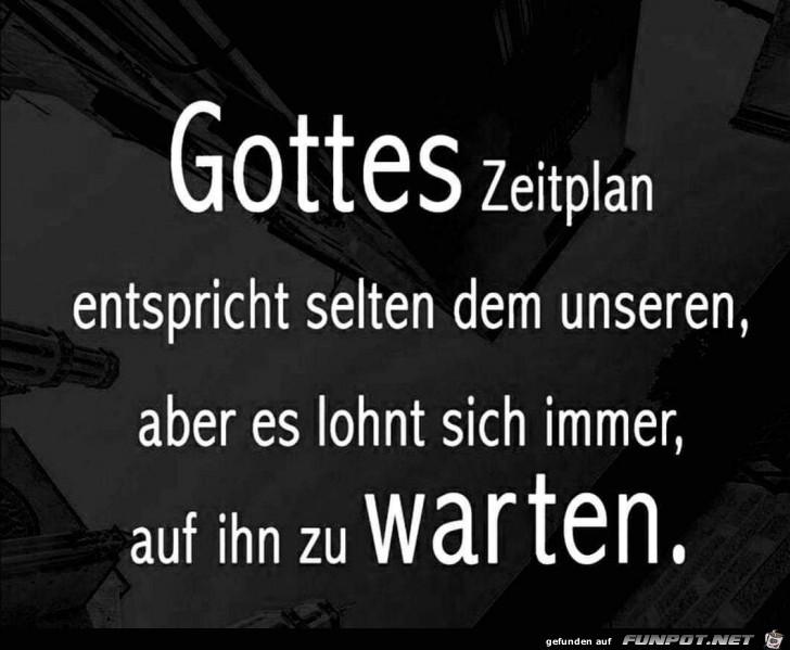 gottes Zeitplan