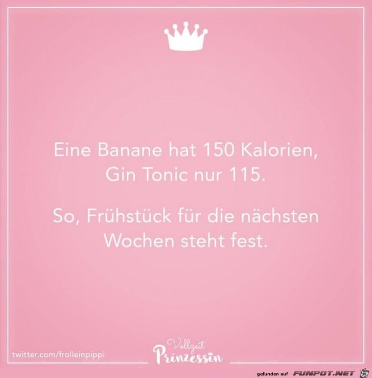 Banane oder Gin