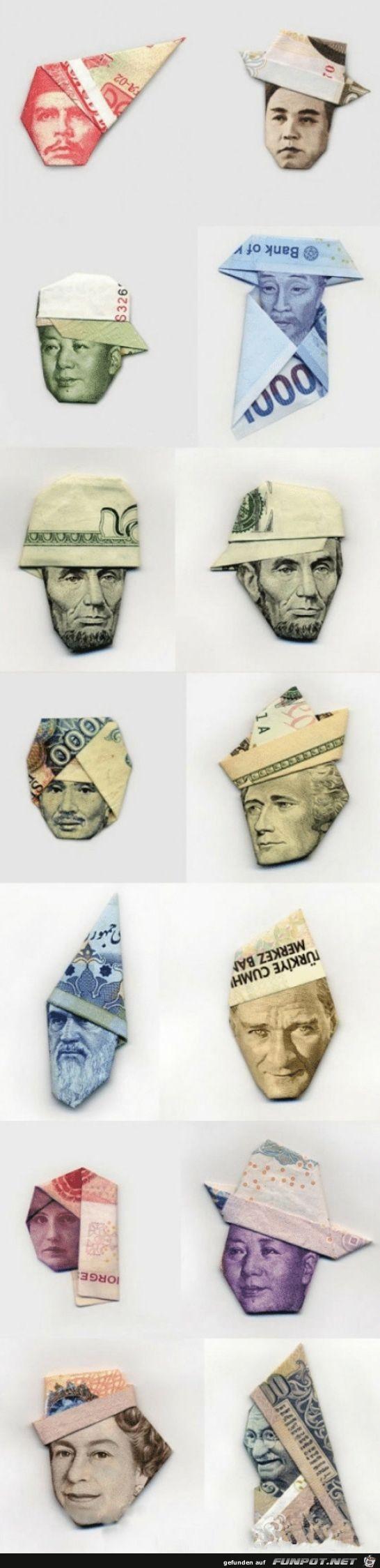Geldschein-Kopfbedeckung