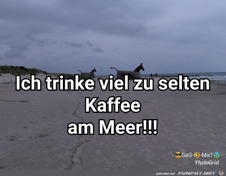 Kaffee am Meer