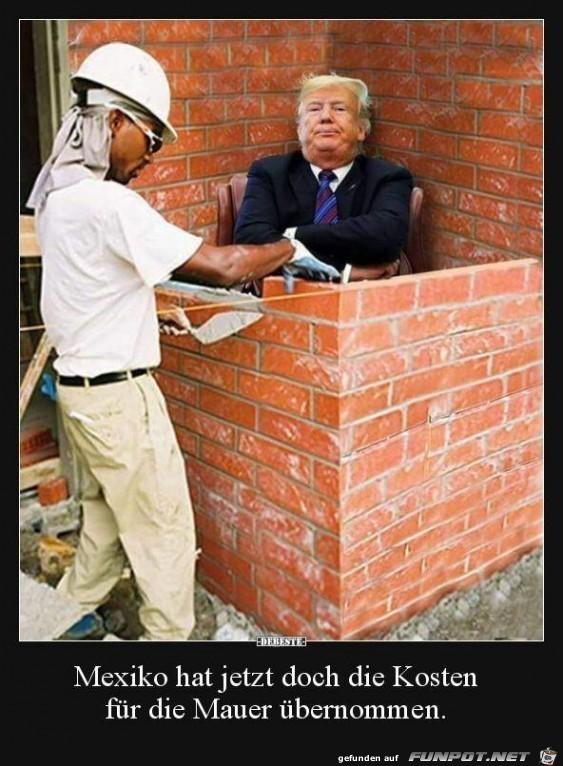 Mauer-Kosten übernommen