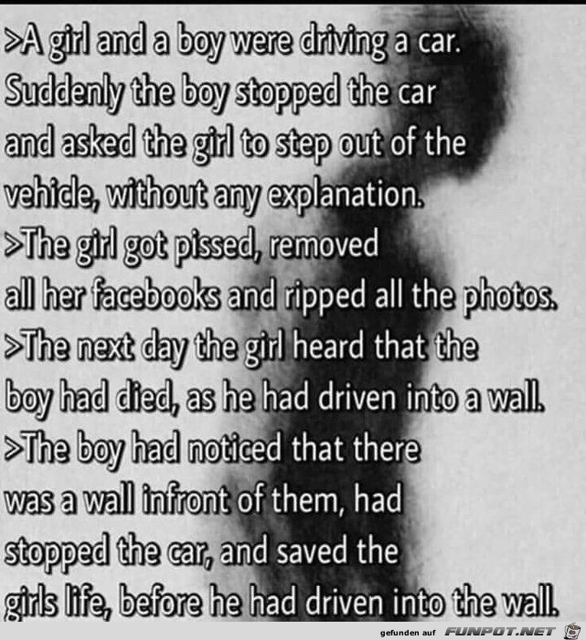 A girl and a boy were driving a car