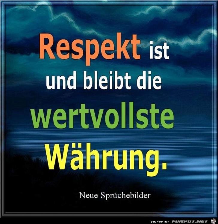 Respekt ist und bleibt