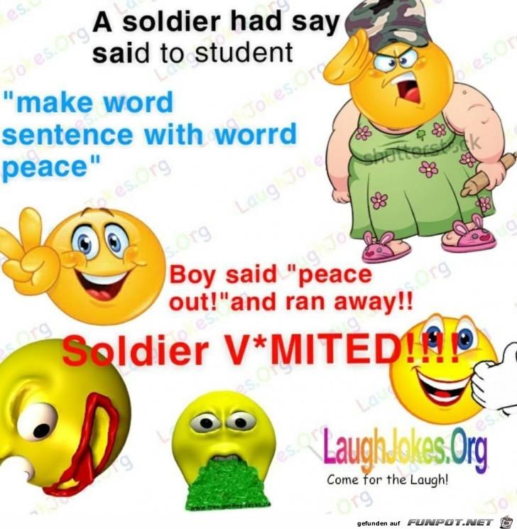 A soldier had say