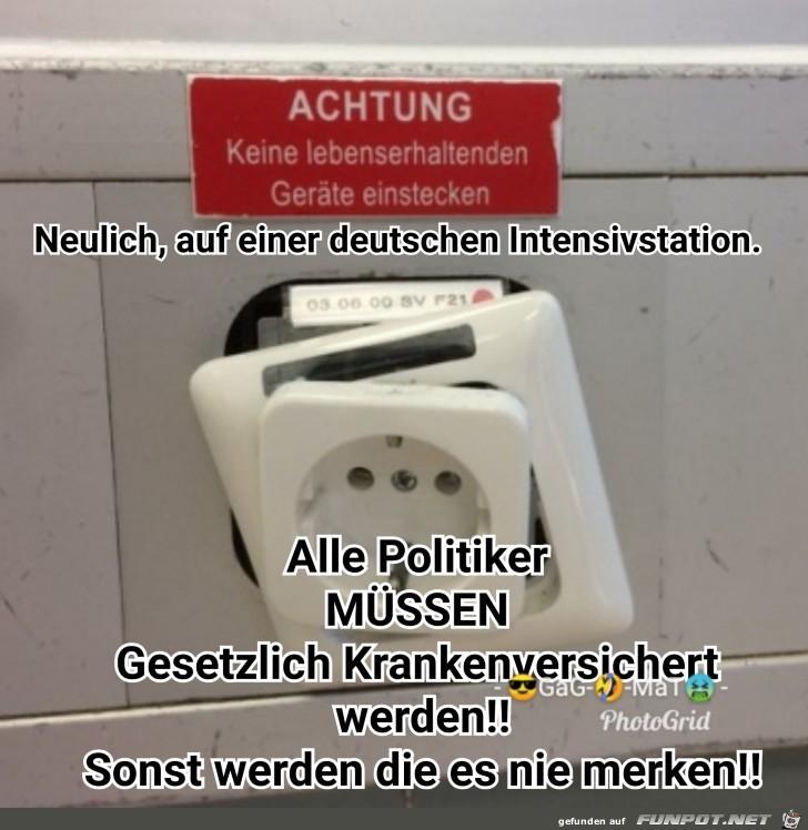 Neulich auf einer deutschen Intensivstation