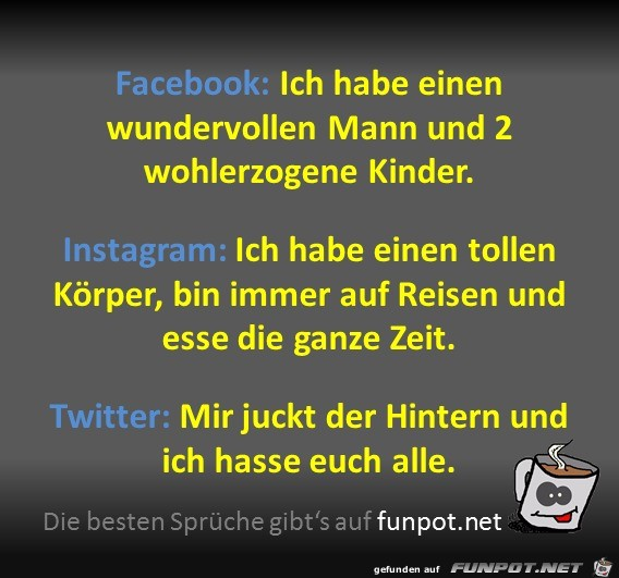 Social Media Unterschiede