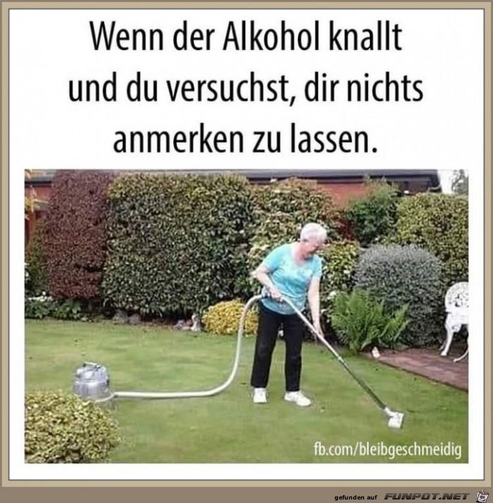 Zuviel Alkohol