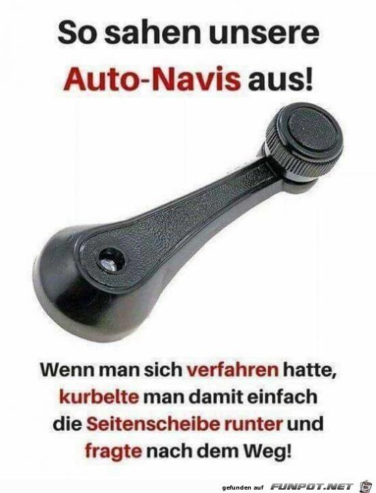 Auto-Navis damals