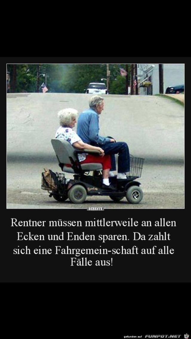 Fahrgemeinschaft für Rentner