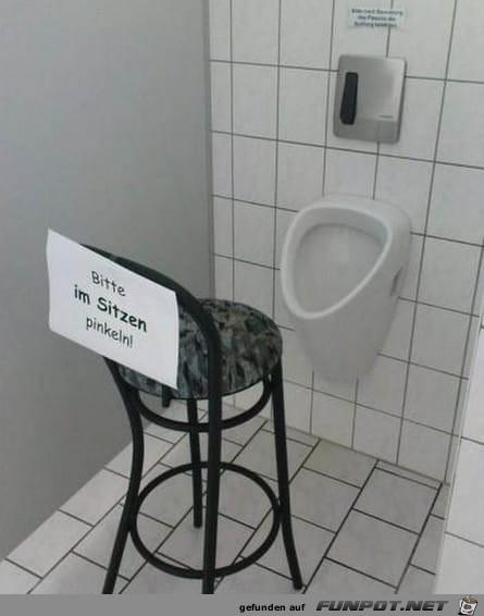 Bitte im Sitzen