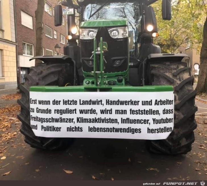 Demo der Landwirte