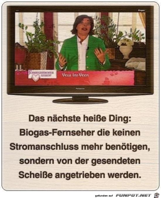 Biogas-Fernseher