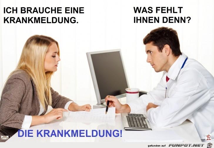 Krankmeldung