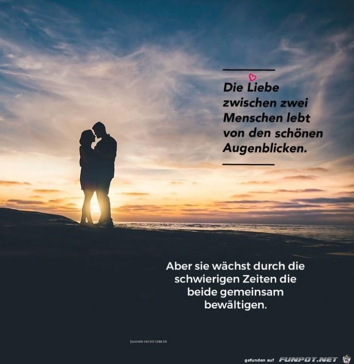 die Liebe zwischen zwei Menschen