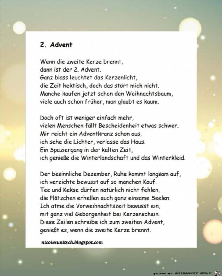 Zweiter Advent - Gedicht